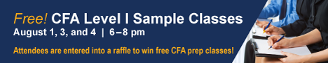 CFA Level I Sample Classes