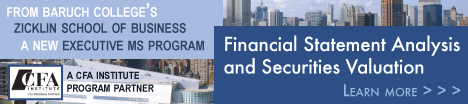 Baruch's MS in Financial Statement Analysis and Securities Valuation