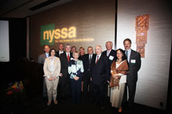 NYSSA Board of Directors with keynote speaker, Leon Cooperman, CFA.
