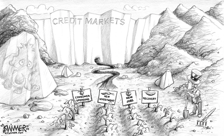 Karl Wimer Credit Market Cartoon