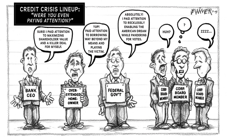 Karl Wimer Credit Crisis Cartoon